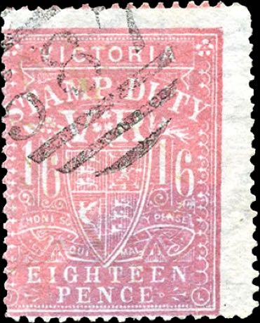Victoria_Stamp-duty_18p_forgery1