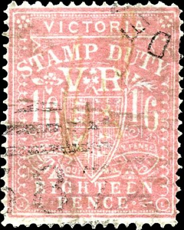 Victoria_Stamp-duty_18p_forgery2