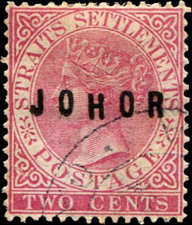Johore_1884_QV_2c_Surcharged_Forgery2