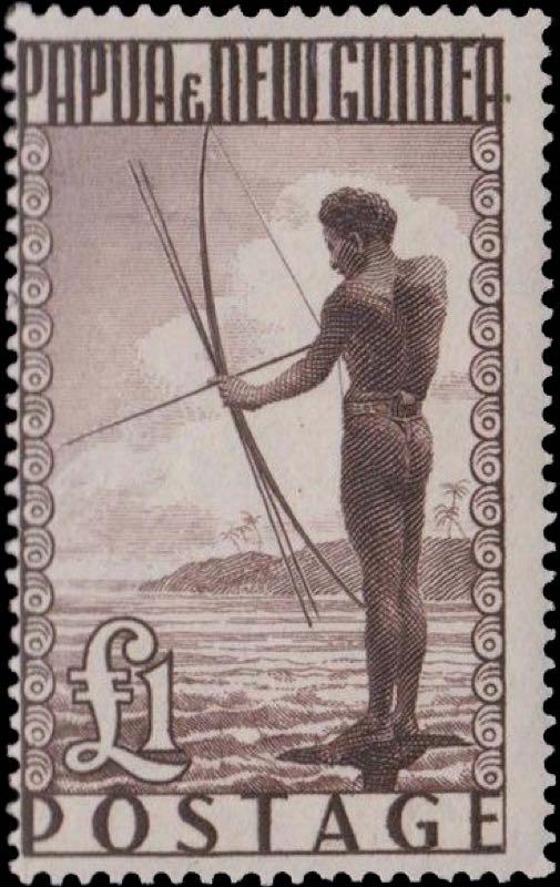 Papua_New_Guiana_1952_1pound_Genuine
