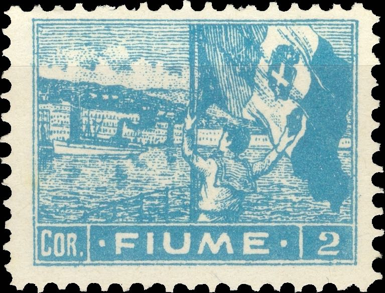 fiume_1919_harbor_2cor_forgery_type_2