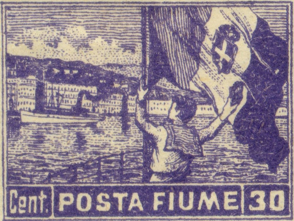 fiume_1919_harbor_posta-fiume_30cent_genuine