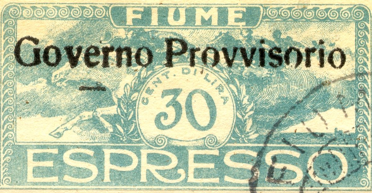 fiume_1921_special_delivery_surcharged_governo_provvisorio_30_forgery_type2