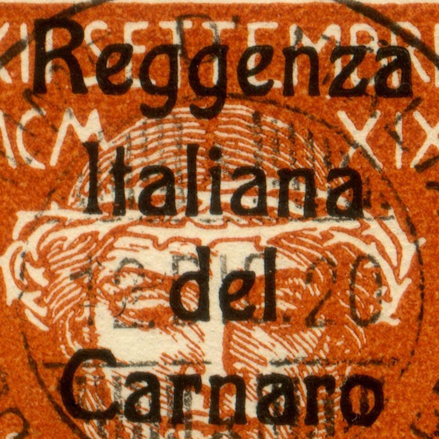 fiume_military_post_reggenza_italiana_essay_overprint_genuine