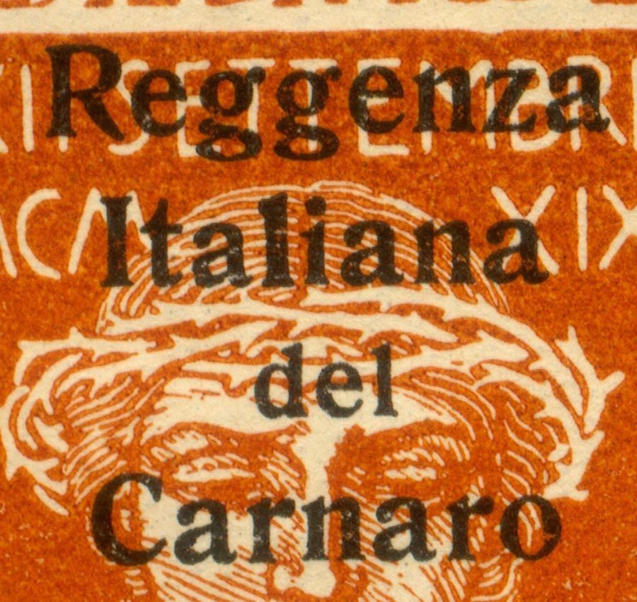 fiume_military_post_reggenza_italiana_overprint_genuine