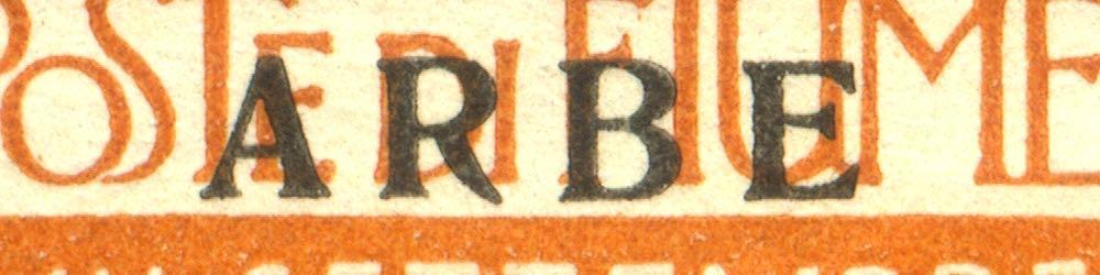 fiume_military_post_reggenza_italiana_small-arbe_overprint_forgery_type_1