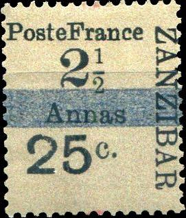 Zanzibar_French_Post_1897_25c-2.5c_Forgery1