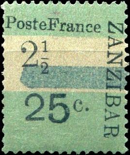 Zanzibar_French_Post_1897_25c-2.5c_Forgery7