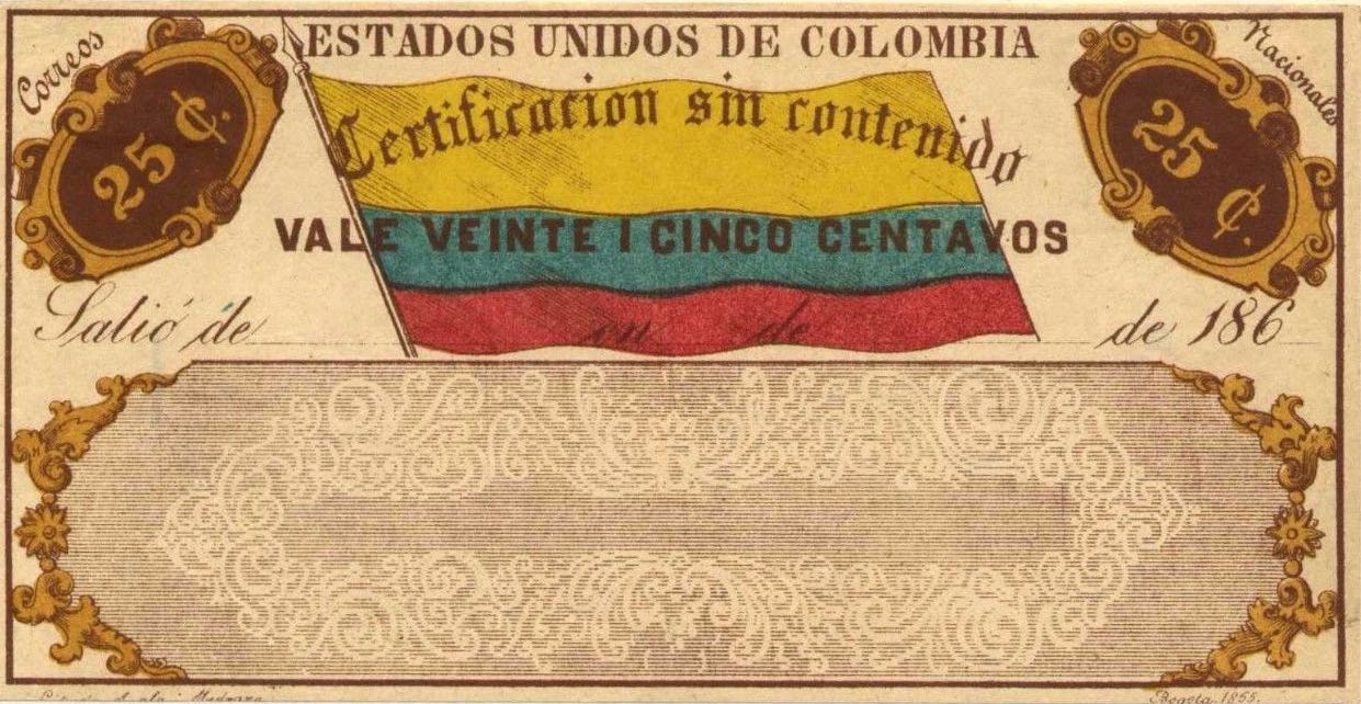 Colombia_1865_Cubiertas_25c_Forgery1