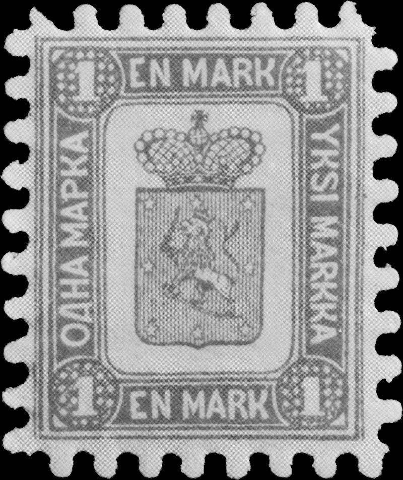 Finland_1867_1mark_1892_reprint