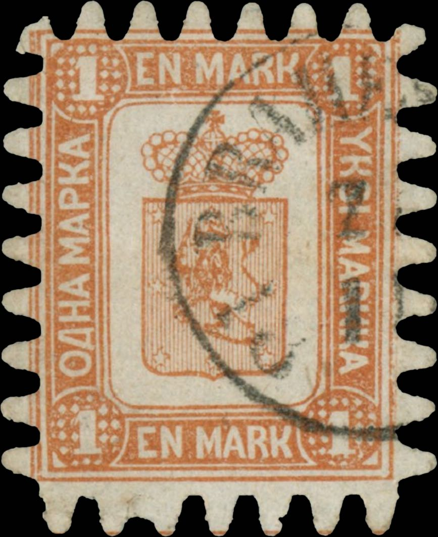Finland_1867_1mark_Genuine