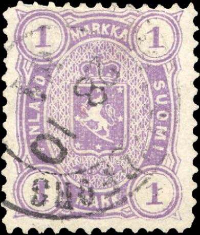 Finland_1882_1markka_Genuine_perf12.5