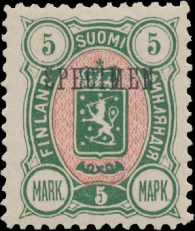Finland_1889_5m_SPECIMEN_Genuine