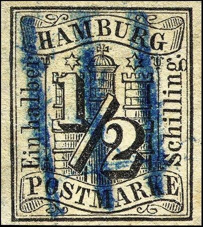 Hamburg_Halb-schilling_Forged_Postmark1