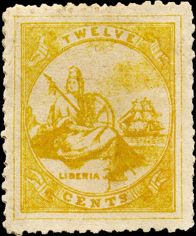 Liberia_1880_Allegory_12cent_Genuine