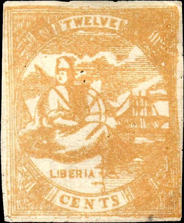 Liberia_1880_Allegory_12cent_Torres_Forgery