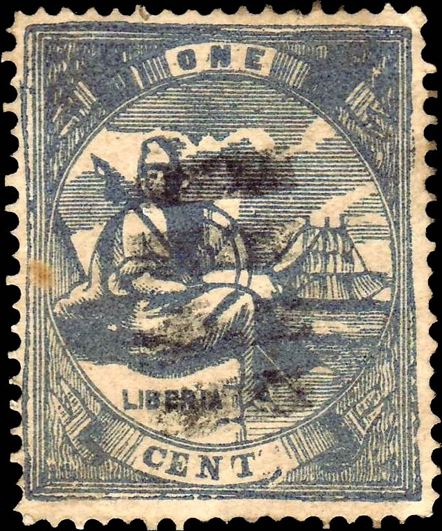 Liberia_1880_Allegory_1cent_Torres_Forgery