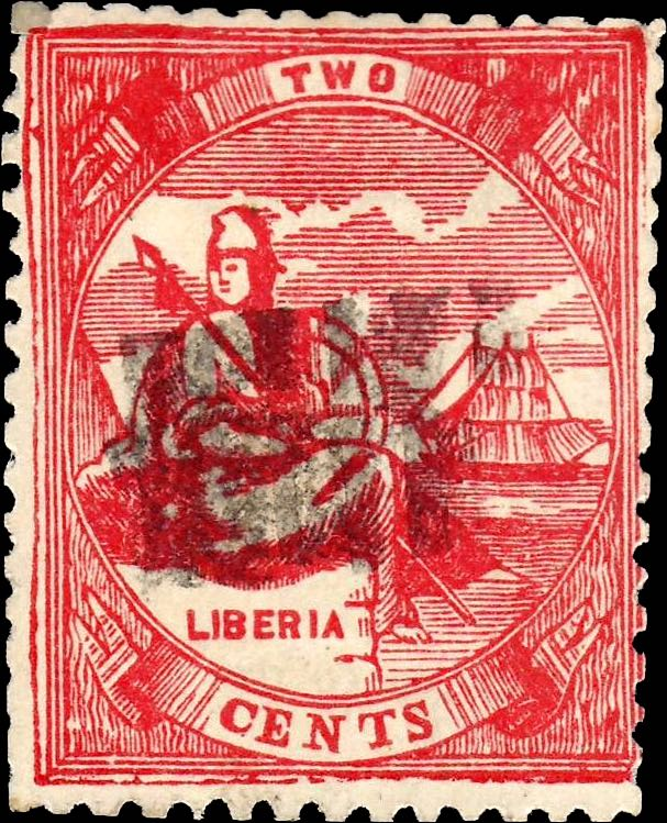 Liberia_1880_Allegory_2cent_Torres_Forgery