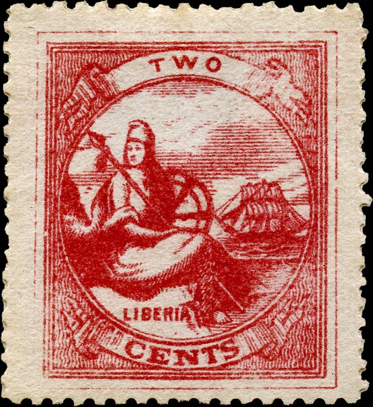 Liberia_1880_Allegory_2cent_Unknown_Forgery1