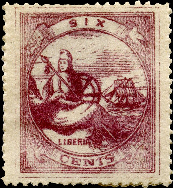 Liberia_1880_Allegory_6cent_Unknown_Forgery1