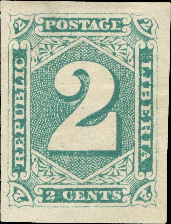 Liberia_1885-92_Numeral_2c_Imperf_Genuine