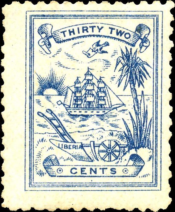 Liberia_1885_Numerial_32c_Genuine