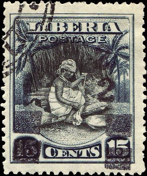 Liberia_1915-16_Provisional_2c-on-15c_Forgery