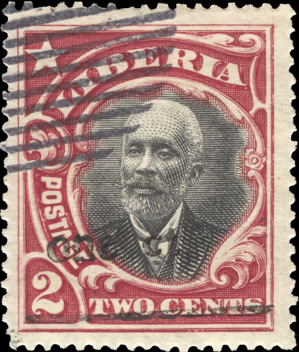 Liberia_1916_Provisional_1c-on-2c_Forgery