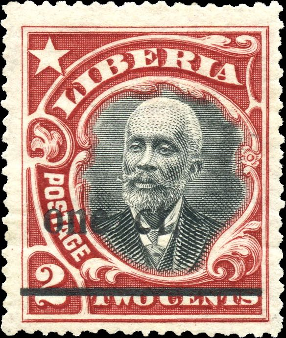 Liberia_1916_Provisional_1c-on-2c_Genuine