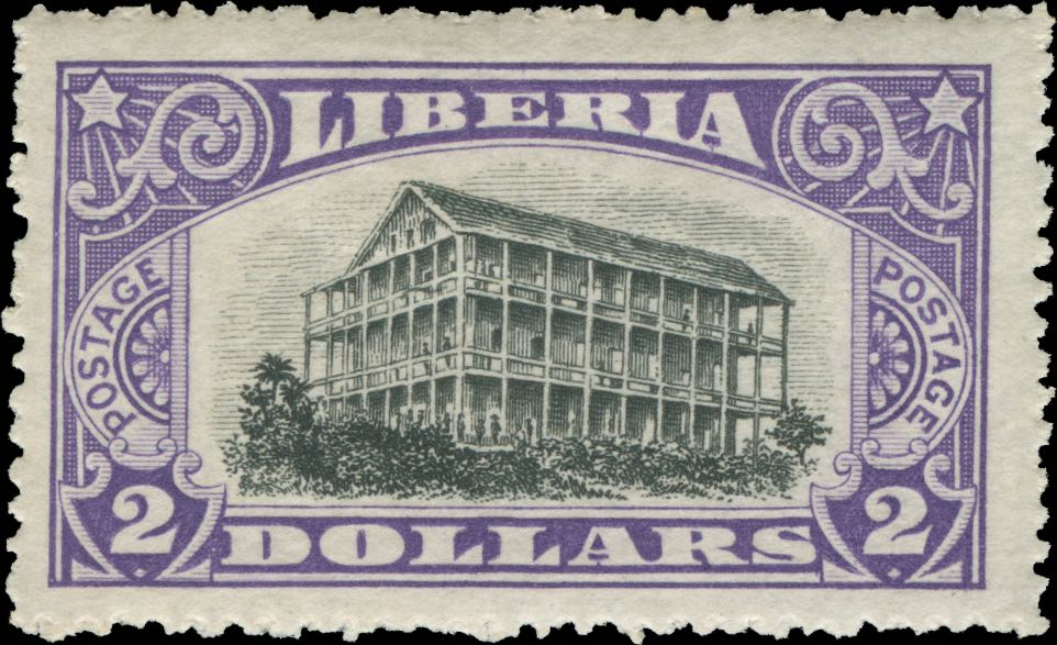 Liberia_1918_Pictorial_2dollars_Genuine