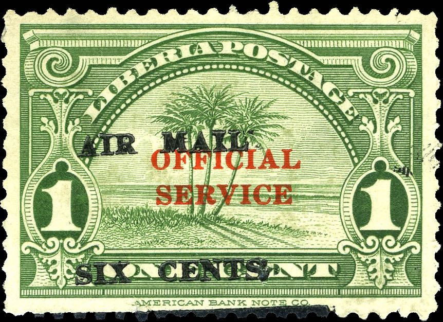 Liberia_1939_Airmail_6c-on-1c_Genuine