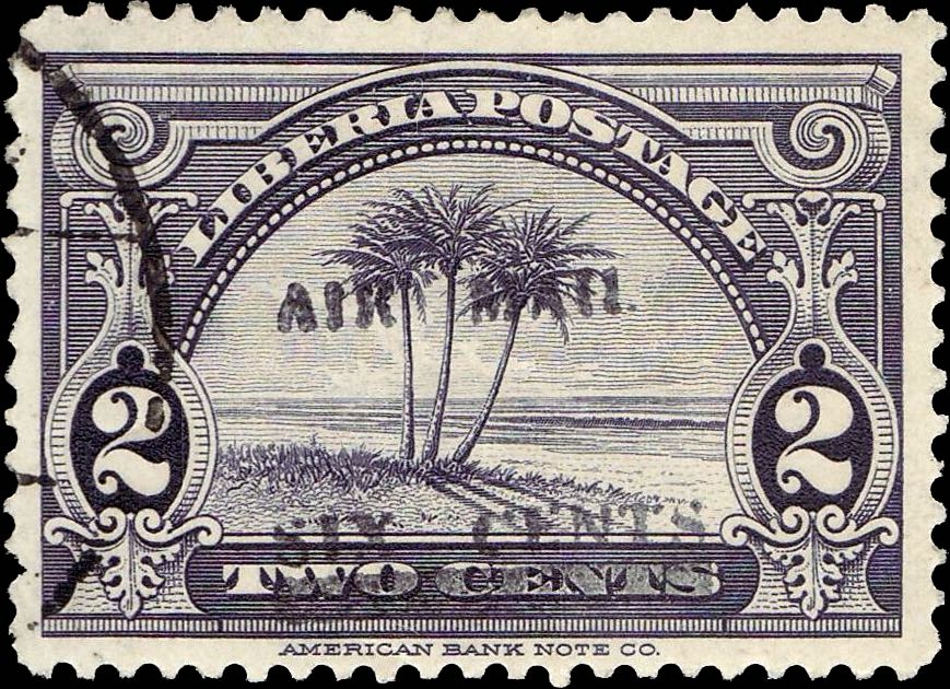 Liberia_1939_Airmail_6c-on-2c_Forgery