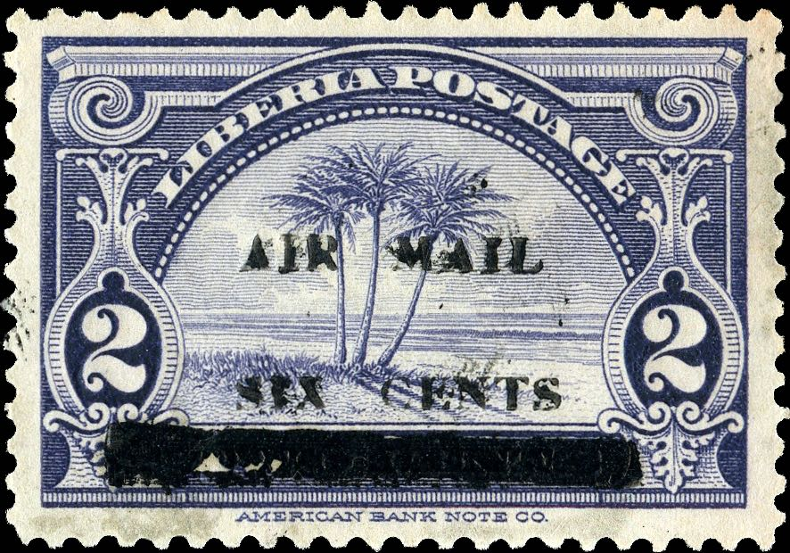 Liberia_1939_Airmail_6c-on-2c_Genuine