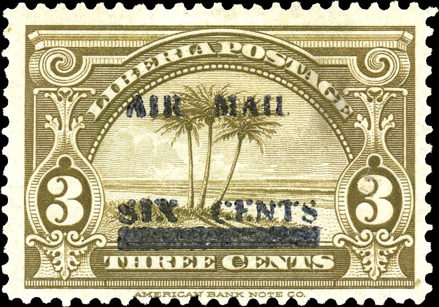Liberia_1939_Airmail_6c-on-3c_Forgery