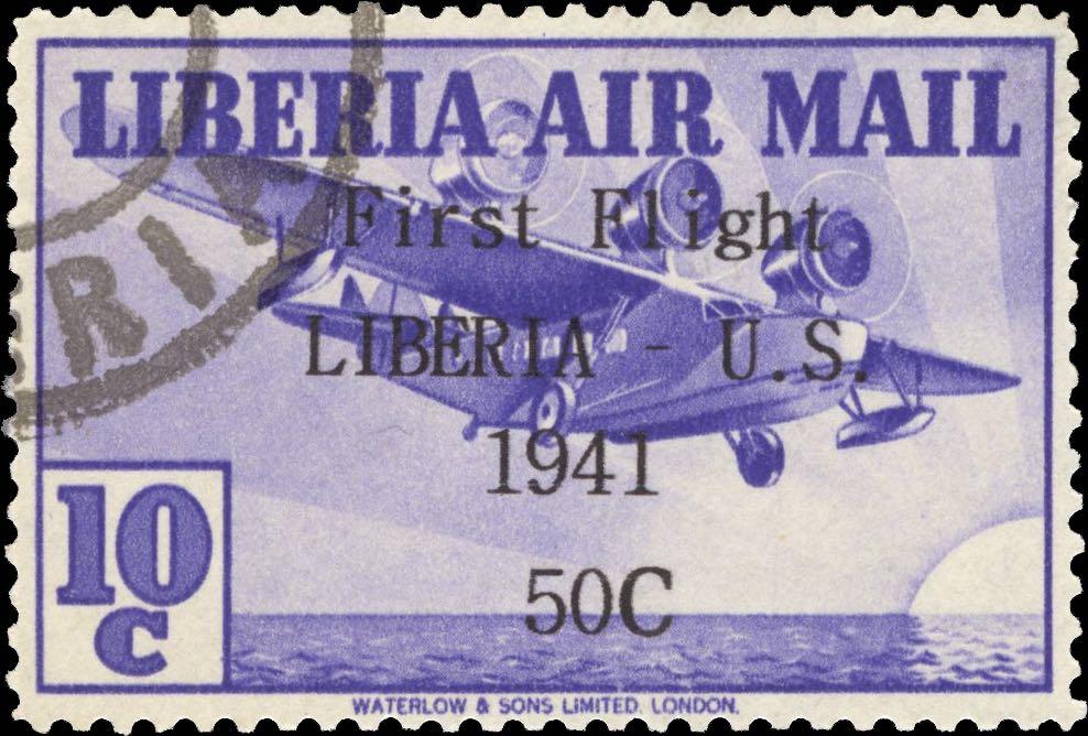 Liberia_1941_First_Flight_10c_Forgery
