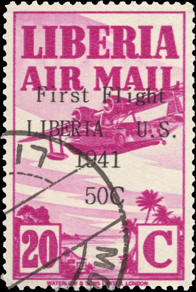 Liberia_1941_First_Flight_20c_Forgery