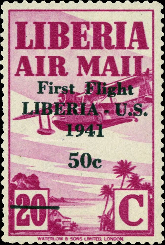 Liberia_1941_First_Flight_20c_Genuine