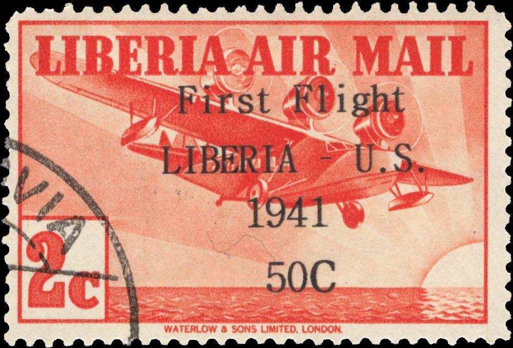 Liberia_1941_First_Flight_2c_Forgery