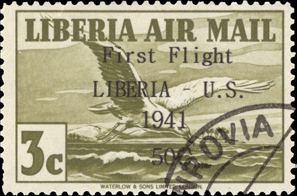 Liberia_1941_First_Flight_3c_Forgery
