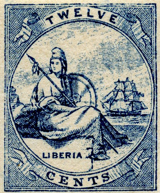Liberia_Allegory_1st-series_12c_Fournier_Forgery1