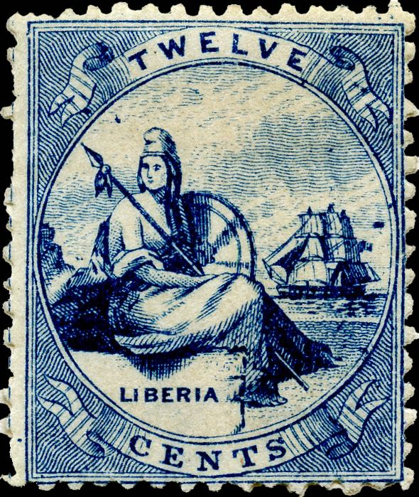 Liberia_Allegory_1st-series_12c_Genuine