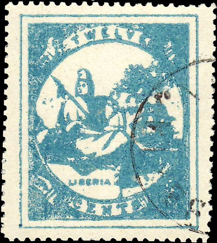 Liberia_Allegory_1st-series_12c_Imperato_Forgery