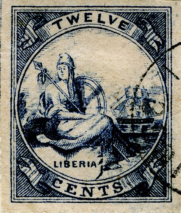 Liberia_Allegory_1st-series_12c_Spiro_Forgery