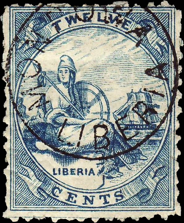 Liberia_Allegory_1st-series_12c_Unknown_Forgery1