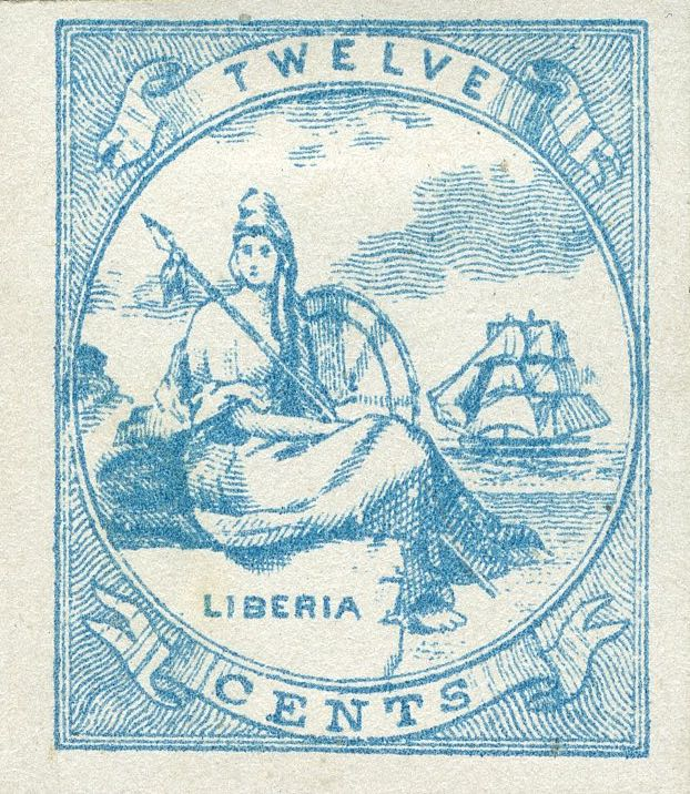 Liberia_Allegory_1st-series_12c_Unknown_Forgery7