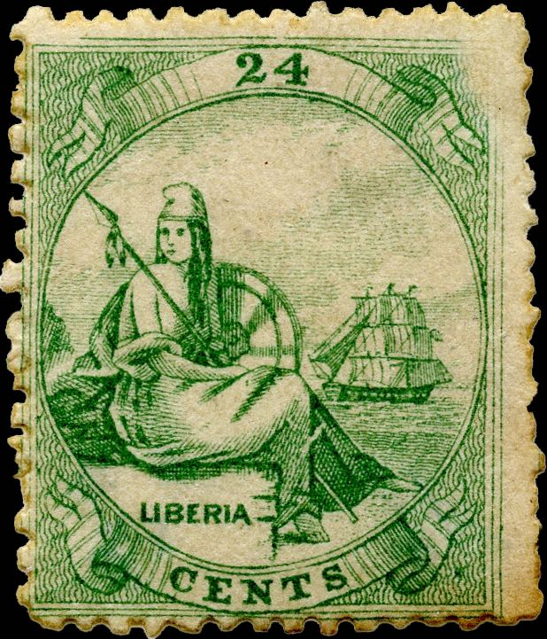 Liberia_Allegory_1st-series_24c_Genuine