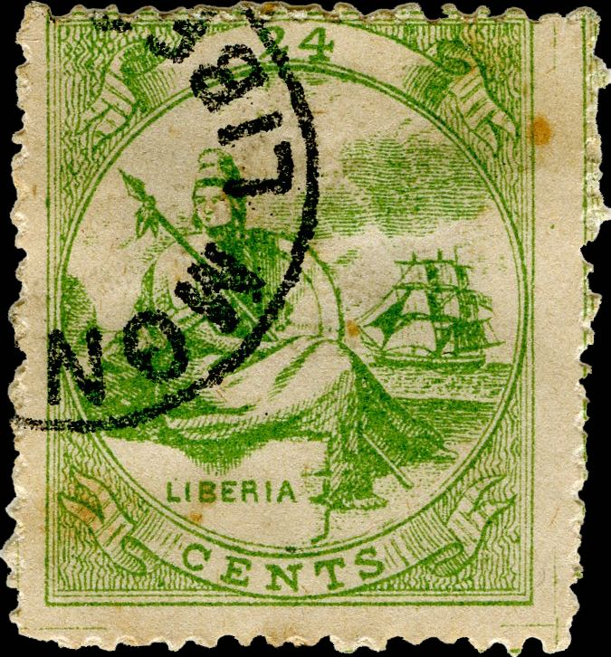Liberia_Allegory_1st-series_24c_Mercier_Forgery