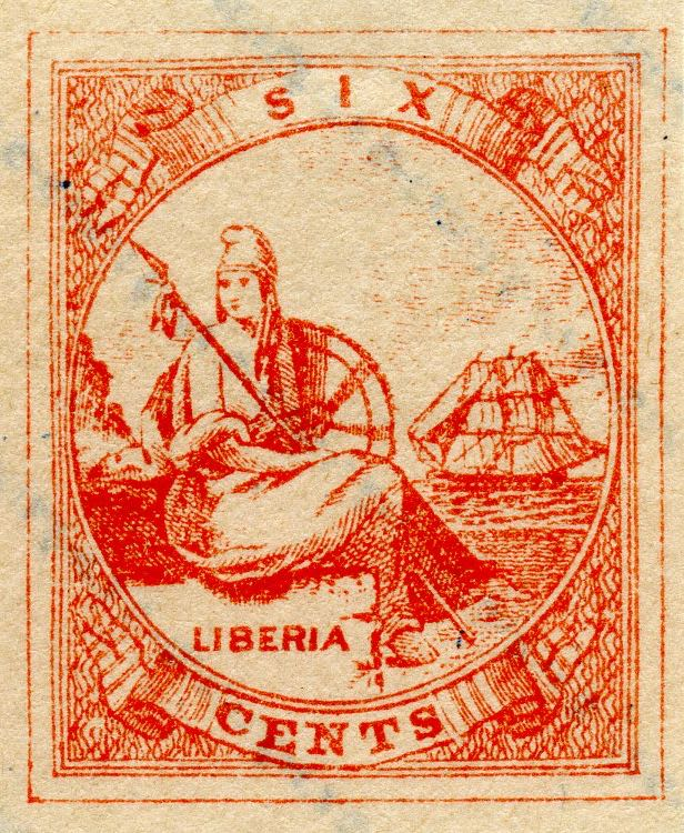 Liberia_Allegory_1st-series_6c_Fournier_Forgery2