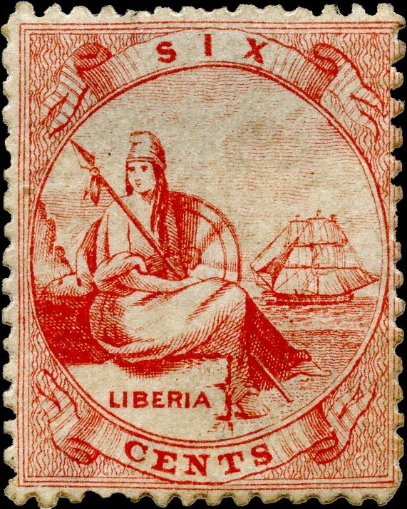 Liberia_Allegory_1st-series_6c_Genuine