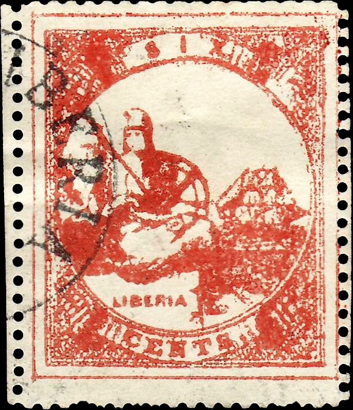 Liberia_Allegory_1st-series_6c_Imperato_Forgery1